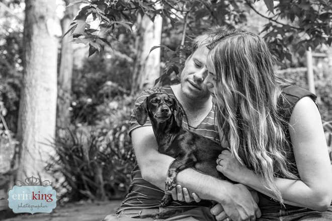 Dachshund with Owners Pet Photography