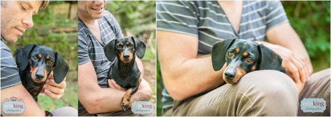 Dachshund with Owner Pet Photography