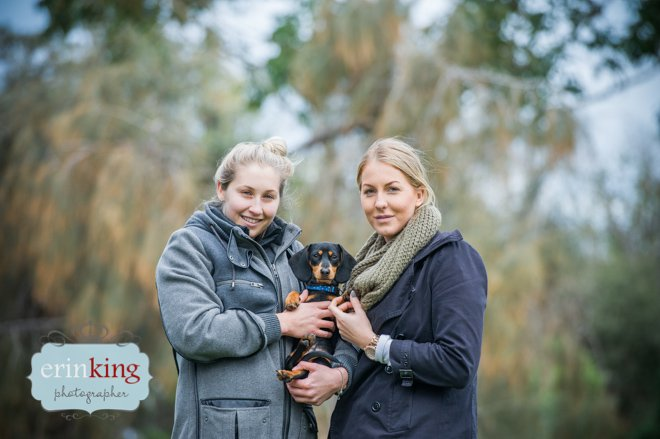 Dachshund pet and owner photography