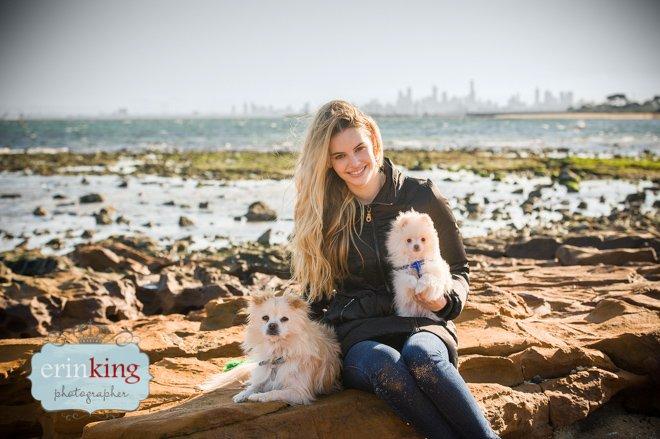 Zoe and Pomeranians
