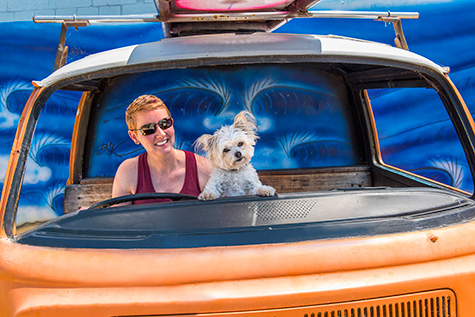 Erin and Peanut Combi Van