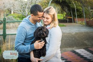 Couple with cavoodle