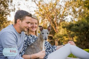 couple with whippet Pet Photography Portfolio